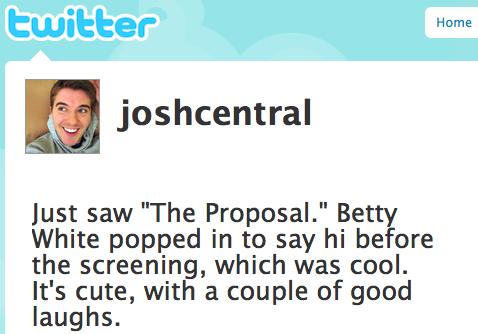 Josh h the proposal twitter review sandra bullock