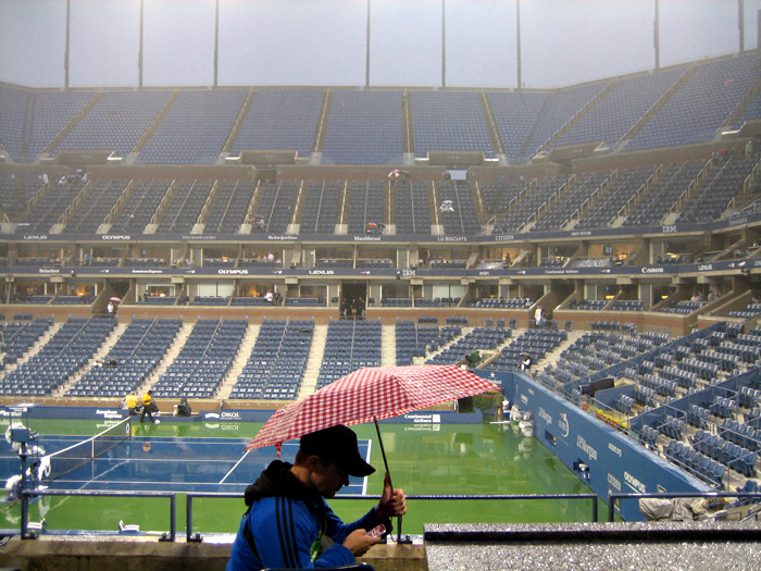 01 josh k rain at US open