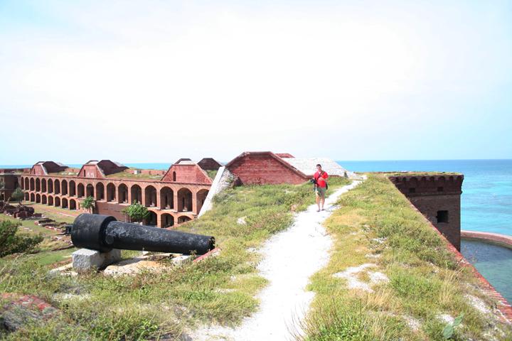 15 josh k walking top of fort jefferson key west