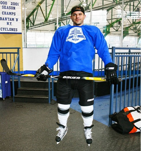 Josh koll in hockey gear levi johnston wore in playgirl shoot
