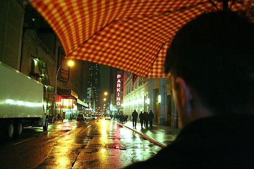 Under Umbrella new years eve times square nyc 2009 2010