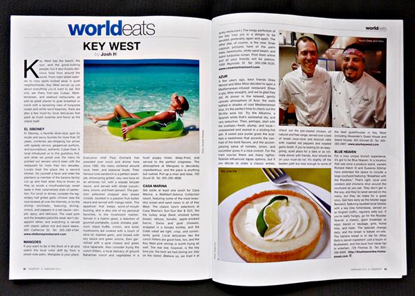 Josh h passport magazine feb 2010 key west food J&J