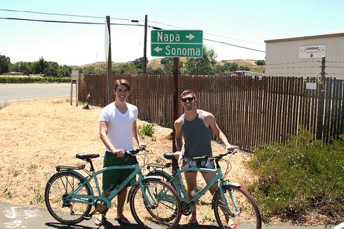 05 josh and josh biking in napa ca
