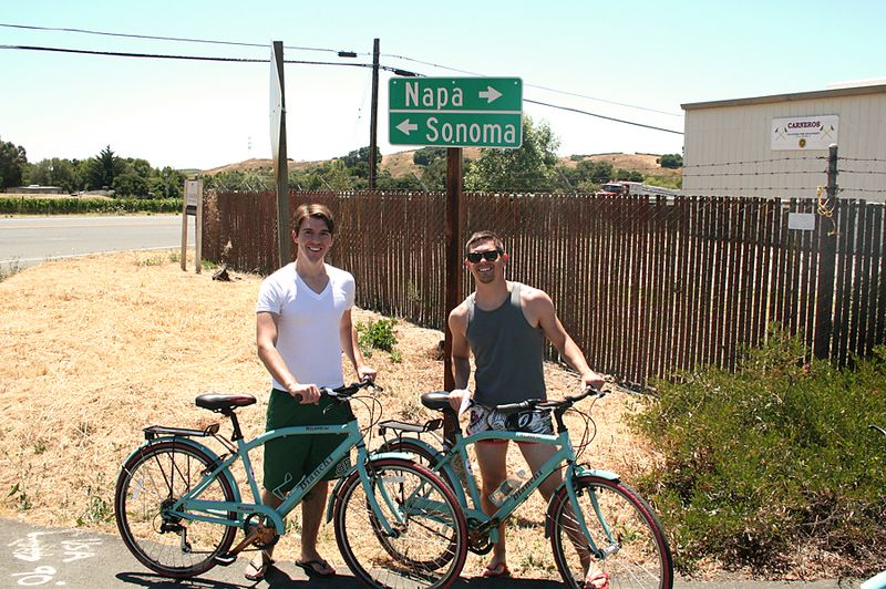 05 josh and josh biking in napa ca